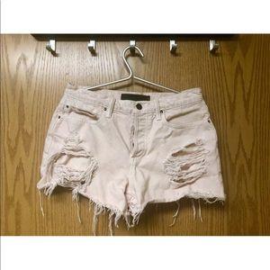 Alexander Wang oversized denim shorts